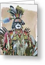 Painted  Warrior  Greeting Card