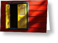 Painted Window - Mike Hope Greeting Card