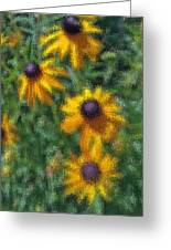 Painterly Flowers Greeting Card