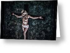 Painting Female Crucifix I Greeting Card