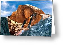 Painting Half Dome Yosemite N P Greeting Card
