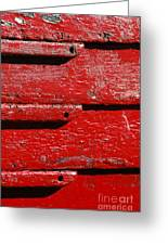 Painting It Red Greeting Card