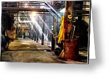 Painting Of A Sugar Mill Boiler Room Greeting Card