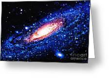 Painting Of Galaxy Greeting Card