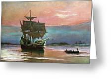 Painting Of The Ship The Mayflower 1620 Greeting Card