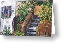 Painting    Siesta Steps Greeting Card