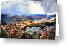 Painting The Grand Canyon Greeting Card