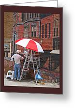 Painting The Past Greeting Card