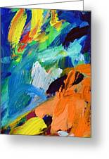And God Said Let There Be Light - Genesis1 3 - Blue Abstract Expressionist Painting Greeting Card
