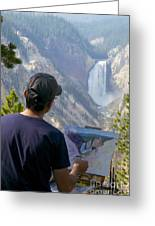 Painting Waterfall Greeting Card