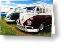 Pair Of Busses Greeting Card