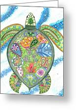 Paisley Sea Turtle Greeting Card