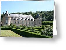Palace And Garden Bussy Rabutin - Burgundy Greeting Card