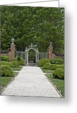Palace Garden Gate Greeting Card