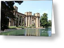 Palace Of Fine Arts Colonnades  Greeting Card