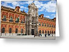 Palace Of San Telmo In Seville Greeting Card