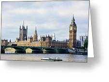 Palace Of Westminster Greeting Card by Trevor Wintle