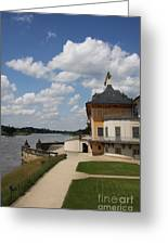 Palace Pillnitz And River Elbe Greeting Card