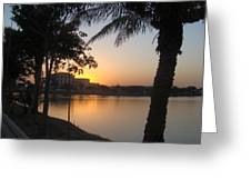 Palace Sunset Greeting Card