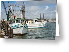 Palacios Texas Two Boats In View Greeting Card