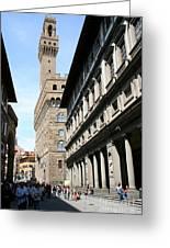 Palazzo Vecchio And Uffizien Greeting Card