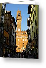 Palazzo Vecchio In Florence Italy Greeting Card