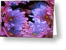 Pale Moon Flower Orb Greeting Card