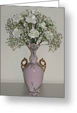 Pale Vase White Flowers Greeting Card by Good Taste Art