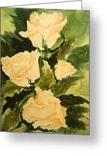 Pale Yellow Roses Greeting Card
