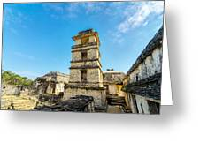 Palenque Palace Tower Greeting Card