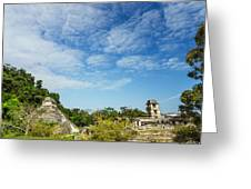 Palenque Temples Greeting Card