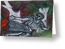 Paleolithic Era Man Greeting Card