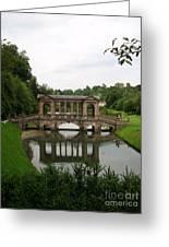 Palladian Bridge At Prior Park Landscape Garden Greeting Card