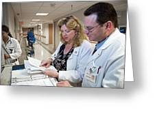 Palliative Nurse And Doctor Greeting Card