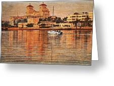 Palm Beach At Golden Hour Greeting Card