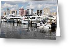 Palm Beach Docks Greeting Card
