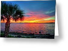 Palm Beach Sunset Greeting Card