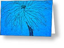 Palm Blue Greeting Card