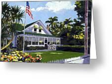 Palm Cottage Naples Florida Greeting Card