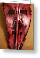 Palm Frond Red Man Greeting Card