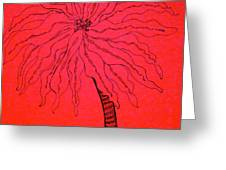 Palm Red Greeting Card