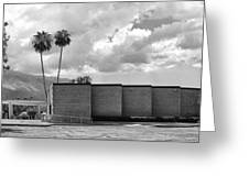 Palm Springs City Hall Bw Palm Springs Greeting Card