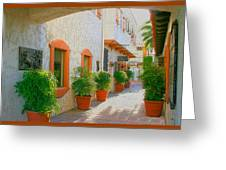 Palm Springs Courtyard Greeting Card