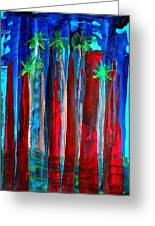 Palm Springs Nocturne Original Painting Greeting Card