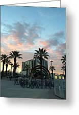 Palm Trees And Bikes At Noho Greeting Card