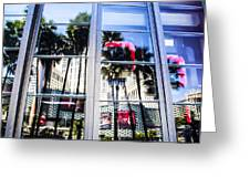 Palm Trees In Reflection Greeting Card