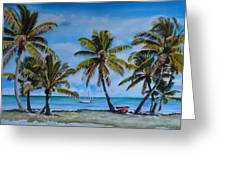Palm Trees In The Keys Greeting Card