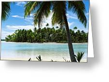 Palm Trees On The Beach, Rangiroa Greeting Card