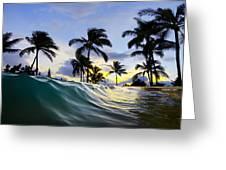 Palm Wave Greeting Card