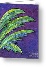 Palms Against The Night Sky Greeting Card